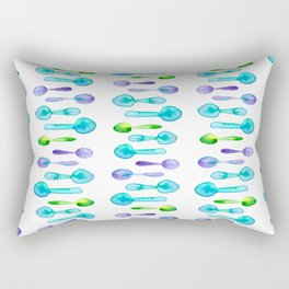 Watercolor Spoon Striped Pattern! Rectangular Pillow