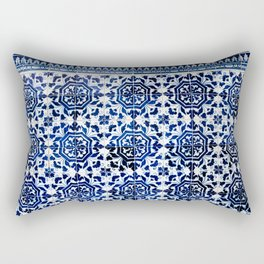 Cobalt Flourish Rectangular Pillow