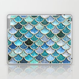 Multicolor Aqua Mermaid Scales - Beautiful Abstract Glitter Pattern Laptop & iPad Skin