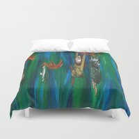 wild things Duvet Covers featuring Wild Things Monsters by Always Add Color