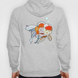 Lion Head Goldfish Pink Hoody
