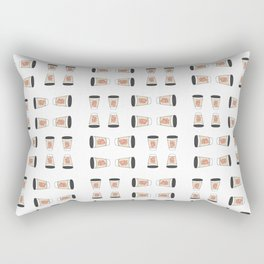 Heart On My Coffee Sleeve - Watercolor Pattern Rectangular Pillow