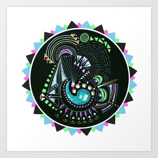 Formed in Space  Art Print