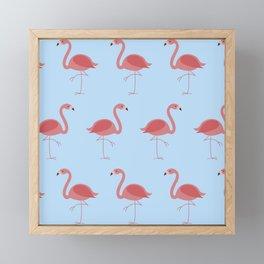 The Flamingo Pattern Framed Mini Art Print