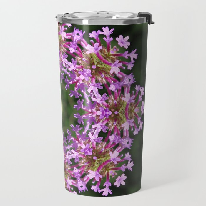 Constellation of Verbena flowers mandala Verbena bonariensis 1829 k2 Travel Mug