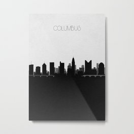 City Skylines: Columbus Metal Print