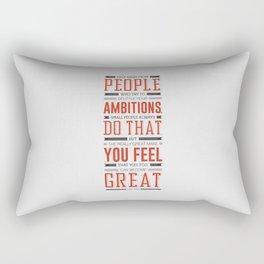 Lab No. 4 Keep Away From People Mark Twain Inspirational Quote Rectangular Pillow