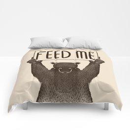 Feed Me Bear Comforters