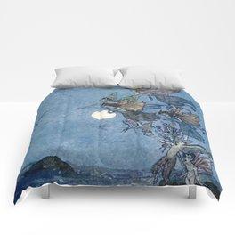 """Elves"" Fairy Tale Art by Edmund Dulac Comforters"