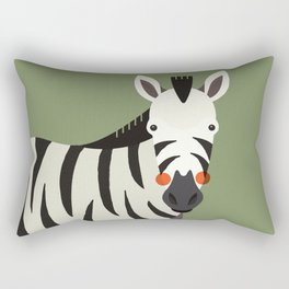 Zebra, Animal Portrait Rectangular Pillow