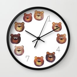 Nine Angry Bears Wall Clock