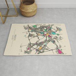 Colorful City Maps: Mecca, Saudi Arabia Rug