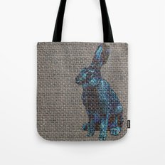 Blue Hare Tote Bag
