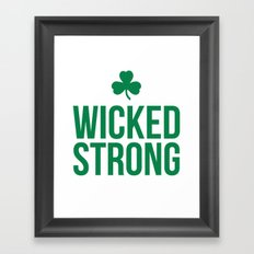 Wicked Strong Green Framed Art Print