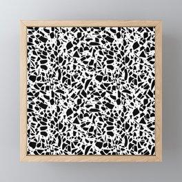 Terrazzo Spot 2 Black on White Framed Mini Art Print