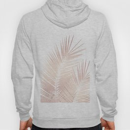Rose Gold Palm Leaves Dream - Cali Summer Vibes #1 #tropical #decor #art #society6 Hoody