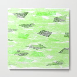 Green lines that look like leaves in the fall Metal Print