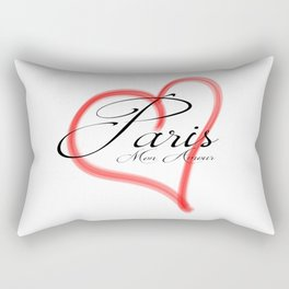 Paris Mon Amour in a red heart - Vector Rectangular Pillow