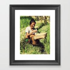 Rice woman Framed Art Print