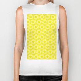Sun Yellow Pattern - Beach Sun - Mix and Match with Simplicity of Life Biker Tank