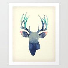 El Venado Azul Art Print
