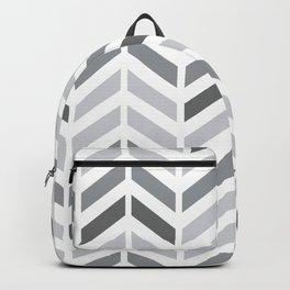 Chevron Grey Small Pattern Backpack