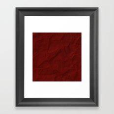 Red paper Framed Art Print
