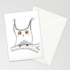 Squarish Owl Stationery Cards