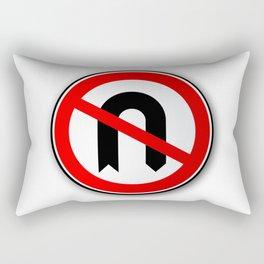 No U Turn Road Traffic Sign Rectangular Pillow