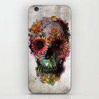 ben giles iPhone & iPod Skins featuring SKULL 2 by Ali GULEC