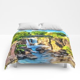Paterson Great Falls in National Historical Park Comforters