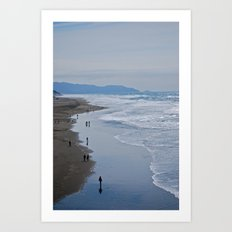 Cold Beach Art Print