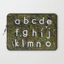 Alphabet Moss Poster Laptop Sleeve