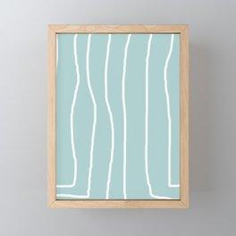 White Lines I Framed Mini Art Print