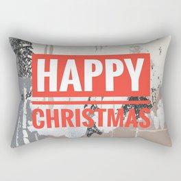Snowfall - Happy Christmas Rectangular Pillow