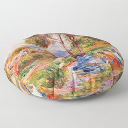 Pierre-Auguste Renoir - Landscape Of The Midi - Digital Remastered Edition Floor Pillow