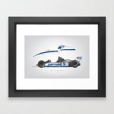 Outline Series N.º6, Nelson Piquet, Brabham BT-52 BMW, 1983 Framed Art Print
