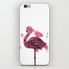Flamingo Watercolor Print iPhone & iPod Skin