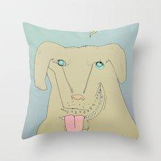 Dogdy dog Throw Pillow