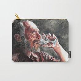 Charles Bukowski acrylic portrait Carry-All Pouch
