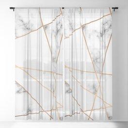 Marble Geometry 054 Sheer Curtain