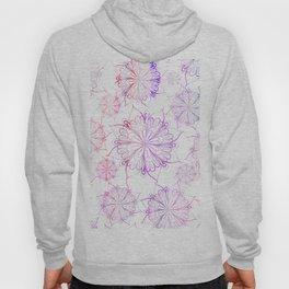 Hand painted pink lilac watercolor floral mandala Hoody