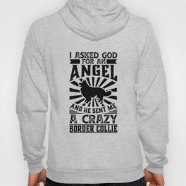 Asked God for Angel He sent Me A Crazy border collie Dog Shirt Hoody