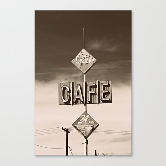 24 hour Cafe  Canvas Print