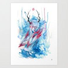 F R E E Z I N G Art Print