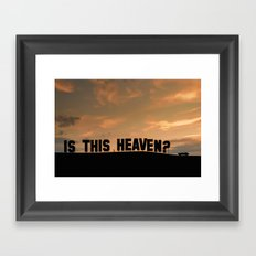 Is this heaven - Hollywood sign Framed Art Print