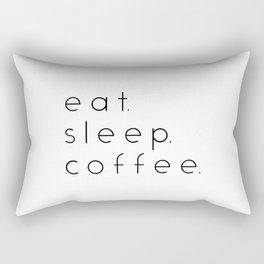 EAT SLEEP COFFEE Rectangular Pillow