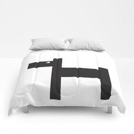 Graphic dog b&w Comforters