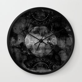 a shouting ghost moves across the sky Wall Clock