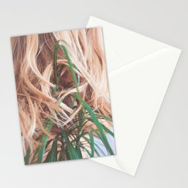 The Fountain; Woman with Plants; Feminine Energy Stationery Cards